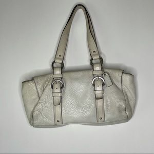 Coach Pebbled Leather Duffle Satchel Style Bag